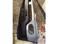 BMW X5 E53 2004 FRONT BUMPER IN SILVER COLOUR