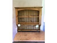 Wooden wall mounted shelf unit/plate rack/bookcase