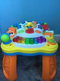 Music table & baby play mat