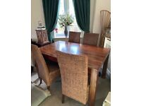 👀 Solid Dark Wood Table With 4 Chairs (Must See) 👀