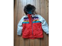 Boden retro style coat, age 7-8, as NEW