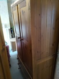 2 wooden wardrobes for free today only