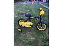 """APOLLO STINGER 12"""" BIKE WITH STABILISERS, excellent condition"""