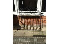 Solid wrought iron Edwardian front gate.