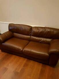 3 seater 2 seater genuine leather sofas
