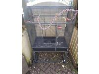 Large bowtop bird/ parrot cage on stand