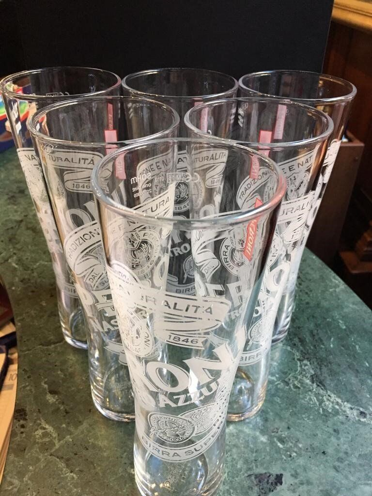 BRAND NEW IN BOX 6 x Half Pint & 6 x Pint Peroni Beer Glasses