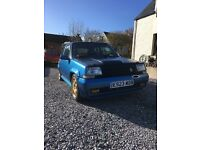 Renault 5 GT Turbo 1800 16V, 6months M.O.T.
