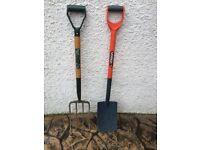 Pitch fork & spade