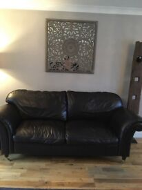 Laura Ashleigh leather sofa