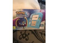 Pokemon ds console for sale with built in Pokemon moon game