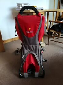 Littlelife Adventurer baby carrier with raincover. Nearly new.