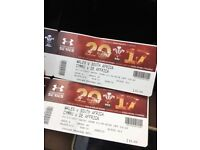 Wales v South Africa rugby tickets today's game