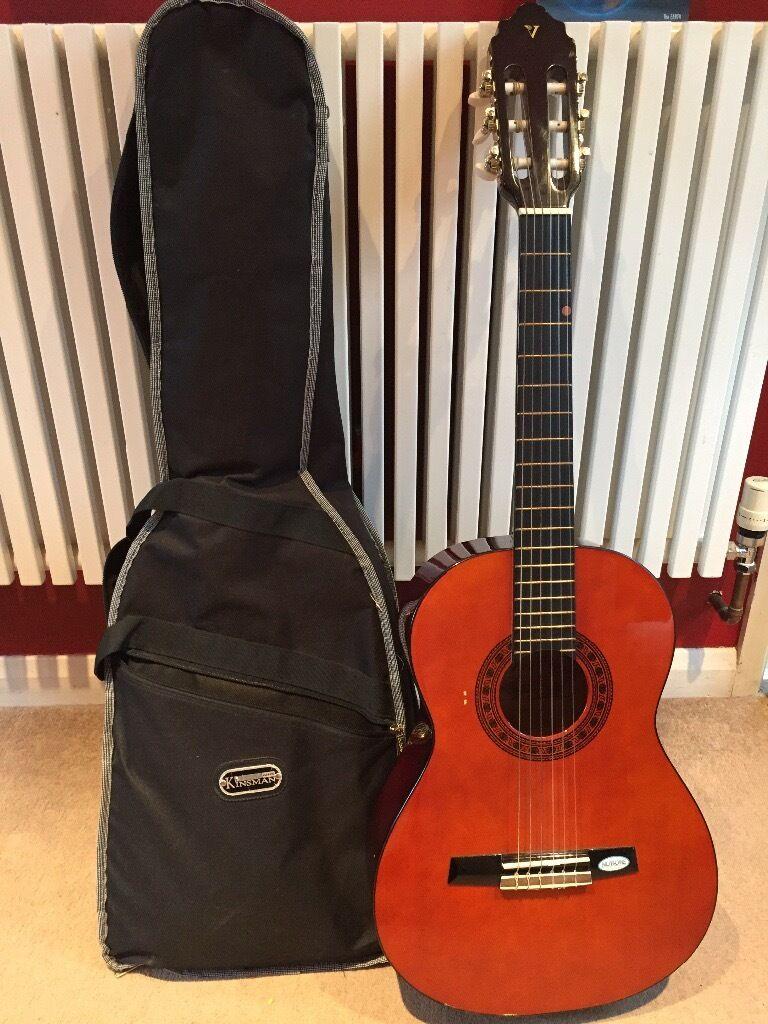e648acf00fe 3/4 Classical Guitar plus case + Kinsman electric guitar case + music stand