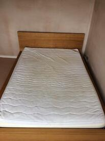 Ikea double bed - frame and mattress