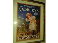 original cadburys framed print collectable