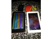 2 android tablets spares or repairs