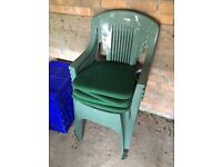 4 x garden chairs and cushions