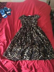 Leopard print dress girls age 12-13