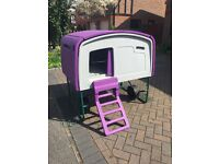 Authentic Eglu Omlet Cube Hen house in purple