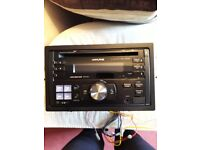 Alpine CDE-W203Ri USB and iPod Aux Contoroller Double Din CD Player