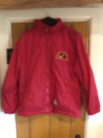 St Nicholas waterproof, reversible jacket with logo