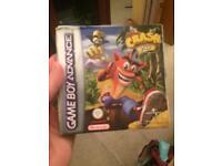 Boxed crash xs gameboy advance game