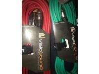 2x Jack To Female XLR (High Quality Cable & Long Length)