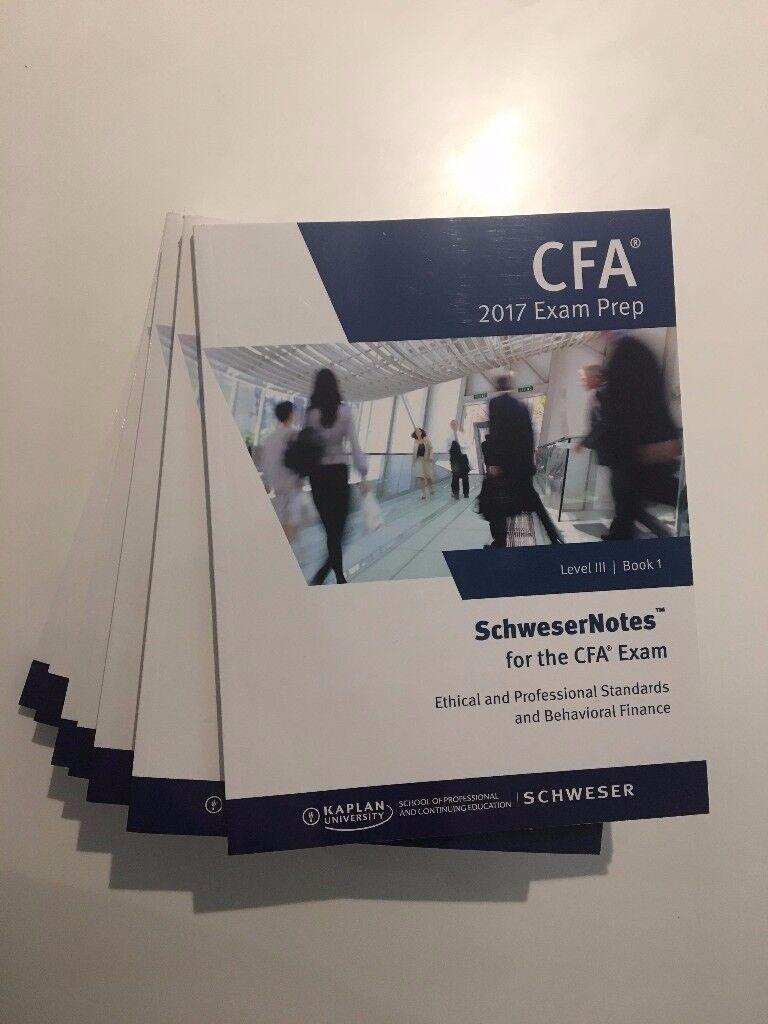 Kaplan Schweser Notes CFA Level 3 III 2017 Revision Books + Exam Prep + (Brand New)