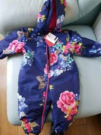 Joules snow suit 9-12 months brand new