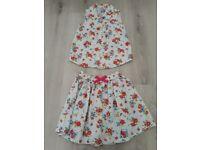 Skirt&top set