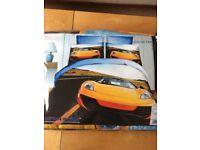 3D car photo effect duvet cover
