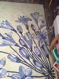NEXT Yellow lemon and grey extra large rug