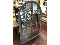 NEW LARGE 4.5x3ft arched grey window mirror ONLY £109 last few