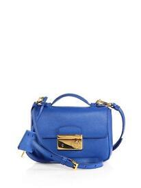 BNWT Prada Saffiano Mini Crossbody Clutch, Blue (Cobalto) RRP £940