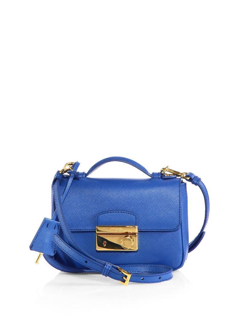 0522e1a2931 BNWT Prada Saffiano Mini Crossbody Clutch, Blue (Cobalto) RRP £940