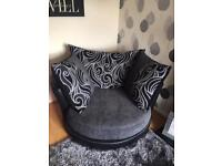 2 Seater Sofa & Large Swivel Chair *3 months old*