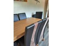 Dining/Kitchen table and 6 highback chairs