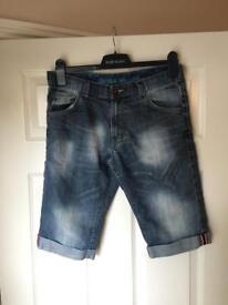 Mens Easy Denim Shorts - W30