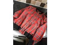 Tartan bomber jacket