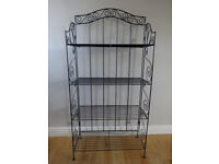 BLACK METAL STAND WITH SHELVES