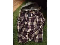 Superdry super dry £15 hooded shirt jacket