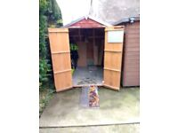Motor Bike Garden SHED 8 x 6 with ramp with double doors