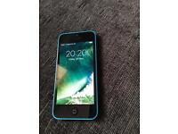 Good Condition iPhone 5C Blue On Vodafone & Lebara With New Accessories