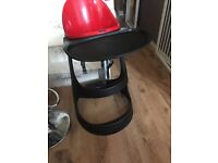 Ikea red and black high chair