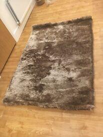 Brand new mocha shaggy rug