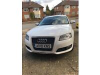 AUDI A3 Sport diesel 170BHP with low Milege white with black leather