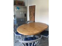 Extendable Dining Table & 4 Chairs in French Grey