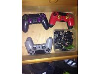 3 ps4 controllers spares or repairs