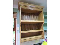 Solid Oak Kitchen Plate Holder / Shelf